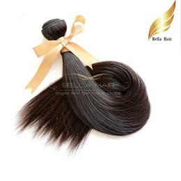 European Mongolian Cambodian Indian Peruvian Brazilian Human Hair Wefts High Grade Brazilian Hair Straight Extensions 1PC Bellahair