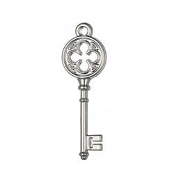 Silver Tone Vintage Style Love Key Floating Charms Endless Pendants Jewlery Wholesale lot 20pcs