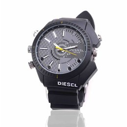Wholesale 8GB HD P Spy DVR Watch Camera Waterproof Hidden Camera Wristwatch IR Night Vision Security Camcorder Mini Video Camera