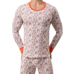 2017 New Fashion Printed Cotton Men Long Johns Men Thermal Underwear Sets Winter Warm Long Johns Suits Underpants qt02