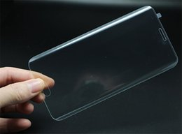 Clear 3D Curved Surface Full Cover Tempered Touch Screen Glass Film for Samsung Galaxy S6 Edge Front Screen Protector