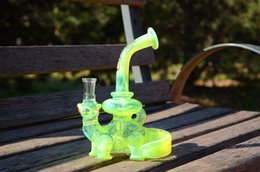 Wholesale CCG Glass Water Pipes Dino Rig with slyme color high end quality