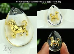2-1 Crystal 24K gold inside pendant charms stereo 12 twelve chinese zodiac Business gifts, festival gift, staff welfare, tourism souvenir