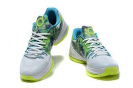 2016 Nouveau KD 8 VIII Cheap N7 Hommes Basketball Chaussures homme kds Kevin Durant KD8 N7 Sneakers brillent en noir Taille KDS 7 ~ 12 à partir de kd chaussures hommes taille 12 fabricateur