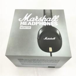 Marshall MONITOR Headphones Noise Cancelling Headset Deep Bass PK Studio 2.0 Monitor Rock DJ Hi-Fi headphone Earphone with mic retial Box