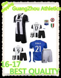 Wholesale AAA Top quality Juventus jerseys Socks patches kirts home white away blue soccer uniform suits HIGUAIN MARCHISIO DYBALA POGBA Soccer