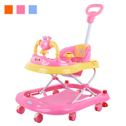 Wholesale Hot Sale Baby Walker Music Foldable Toddler First Steps Assistant Tools Toy Infant Stroller Car Cartoon Child Wheels Pushchair JN0075