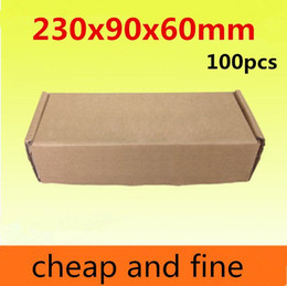 230x90x60mm100pcs High quality wholesale kraft paper boxes Thicken three floor corrugated kraft paper packaging gift,socks gaine