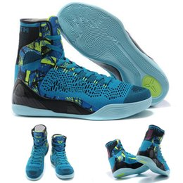 Wholesale With shoes Box New Bryant Kobe IX KB Elite High Perspective Turquoise Blue Men Boots Shoes