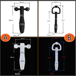 Beginner's Barbell Bondage Urethral Stretching Black White Silicone Tube Fetish New Gay Sex toy A162
