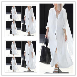 Wholesale Beckham Headset European Long sleeves Fund Cardigan Shirt maxi women fashions casual party denim work for bodycon Four side bullet dresses