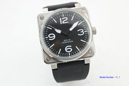 Wholesale NEW Bell Automatic Movement Men s watch best Watches Ross black rubber band vv10