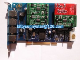 Wholesale TDM410P With FXO FXS Asterisk card TDM410 PCI Interface