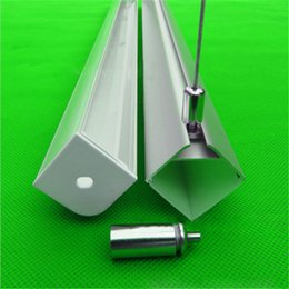 10m 10X1m 40inch 30*30mm 90degree triangle led aluminium profile ,pendant installed led channel ,led bar light for 20mm strip