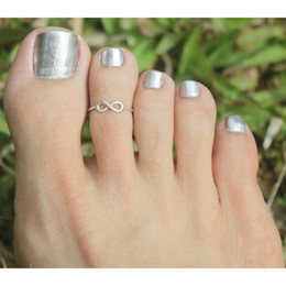 Wholesale Simple Sliver Golden Plated Retro Toe Ring Foot Jewelry Bague Femme Beach Jewelry Ring For Women