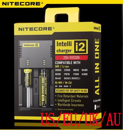 NEW Best Nitecore I2 Universal Charger for 16340 18650 14500 26650 Battery E Cigarette 2 in 1 Muliti Function Intellicharger Rechargeable