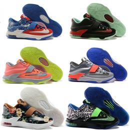Kd chaussures de vente mens à vendre-Chaussures de basket-ball KD Durant de sports d'enfants de garçons de garçons de bas KD7 de Kevin VII