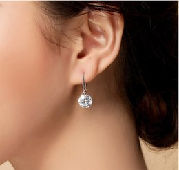 Wholesale Sterling Cz Jewelry Wholesale - Band New Crown Wedding Stud Earring 2015 New 925 Sterling Silver CZ Simulated Diamonds Engagement Beautiful Jewelry Crystal Ear Rings