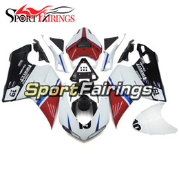 Injection Fairings For Ducati 1098 848 1198 Year 07 08 09 10 11 12 ABS Motorcycle Fairing Kit Bodywork Motorbike Cowling White Red Black
