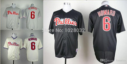 Wholesale 2015 New Cheap Philadelphia Phillies Jersey Ryan Howard Jersey Authentic Cool Base Jersey White Cream Black Embroidery S XL