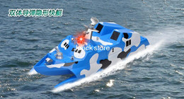 Wholesale 2 G wireless remote control boat remote control catamaran stealth warship model missile destroyers missile boats Boat