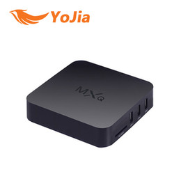 Wholesale 14PCS Original KODI MXQ TV Box Amlogic S805 Quad Core Cortex A5 Mali Quad Core H H KODI Pre installed MX MXQ Android TV BOX