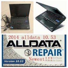 Wholesale 2016 alldata auto repair software v10 mitchell softwares in tb hdd installed well in T410 I5 CPU laptop ready to work