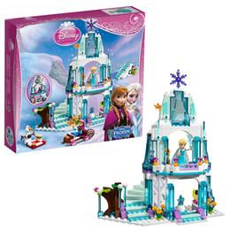 Wholesale Bela Friends Princess Elsa s Sparkling Ice Castle Block Brick Toy Set Girl Game Compatible with Decool Lepin Sluba