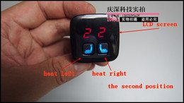 Wholesale carbon fiber car seat heater kits with LCD screen of positions