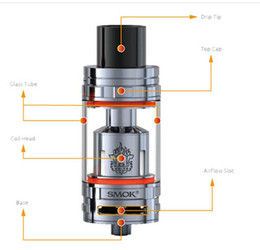 Wholesale 1 pc ok SMOK TFV8 Atomizer ml TFV8 high clone Tank With V8 T8 V8 Q4 Coil Head Best Updated TFV4 Tank mini nano