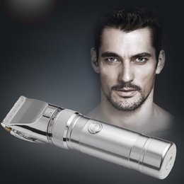herramientas de corte Rebajas Hair Clipper Aleación de aluminio recargable Electric Hair Trimmer Hair Removal Hair Cutting Machine para los niños del hombre KM-9801 Hair Tool 1201001