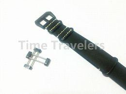 Ver negro núcleo suunto en venta-Para Suunto Core venda de reloj de la OTAN 24MM Negro correa de cuero auténtico de la correa de la hebilla de PVD + + + adaptadores agarraderas de envío gratuito - 115