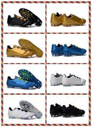 Wholesale Free High quality Training Sneakers Men s ACE FG Black Gold Blue white boots Shoes Football Boots Sneakers Running Shoes