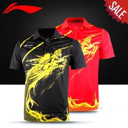 Wholesale London Olympic Games Li ning CHINA Table Tennis Race suit Dragon Version Authentic LINING Table Tennis Shirt AAYG312