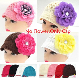 Wholesale 100PCS Crochet Baby Girl Hats Wool Children Knitted Hat Spring Beret Toddler Bernat Handmade Fashion Bebe Cap