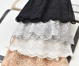 Wholesale Sexy Security - Sexy Lady Seamless High Waist Comfortable Abdomen Lace Anti Exposed & Pure Color Lace Non-trace Ms Nnderwear Are Exposed Security FAS-20