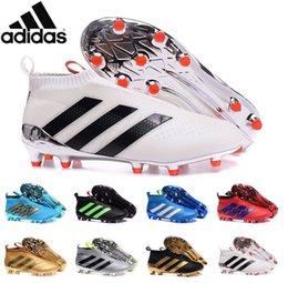 Wholesale Adidas Originals ACE PureControl FG Men Soccer Shoes Boots Slip On Cheap Performance Ace Cleats Football Sneakers Colors New