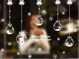 Wholesale Hot DIY Christmas Cartoon Snowflake Wall Stickers Removable Home Decor Decals Sticker Wallpaper Rolls Party Decoration Wall Paper For Window