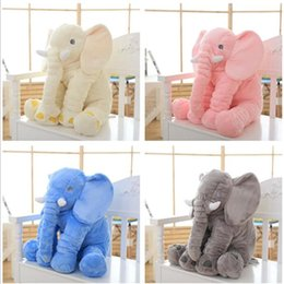 Wholesale Baby Animal Elephant Pillow Feeding Cushion Children Room Bedding Decoration Kids Plush Toys Children s blanket colors