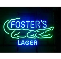 Wholesale NEW FOSTERS AUSTRALIAN LAGER SIZE quot X14 quot GLASS NEON SIGN LIGHT BEER BAR PUB SIGN ARTS CRAFTS GIFTS SIGNS