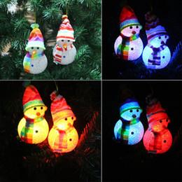 Wholesale Christmas Luminescence Snowman Rice Snowman Christmas Gift Snowman Arts And Crafts Christmas Ornament