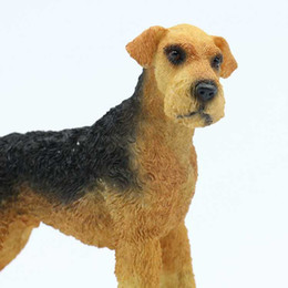 Wholesale New Airedale Resin Crafts Polyresin Resin Dog Statue for Home Ornament antique cars models for decoration