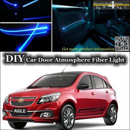 Wholesale interior Ambient Light DIY Tuning Atmosphere Fiber Optic Band Lights For Chevrolet Agile Door Panel illumination Refit