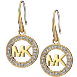 Wholesale MK Michael Kores jewelry Famous Brand charm round earring Trendy Jewelry For Women ME