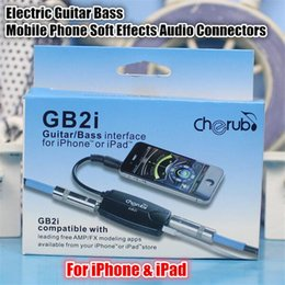 Wholesale GB2i Electric Guitar Bass Audio Effects Simulator AMP FX System Amplifier Convertor Adapter Cable Jack for iPhone iPad Gift Box