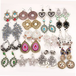Wholesale Hot Fashion earrings Ethinic Antique Bronze Bohemia Beaded Vintage Earrings For Women Lady New Jewelry Bijouterie jewelry gift