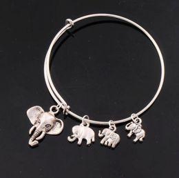 Wholesale 5Styles Alex Ani Bangles Elephant Animal Bracelets Expandable Wire Bracelets Fashion Jewelry BB010 BB014 HOT sell