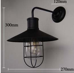 Loft Vintage Wall Lamps Iron+Glass Wall Lights American Country Bedroom Bedside Lamp Wall Fixtures Lighting Edison Bulbs