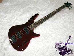 New Guitar Factory red ib bass guitar 4 Strings bass guitar mahogany body china OEM Guitar