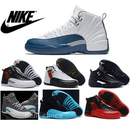 Wholesale Nike dan Mens Basketball Shoes J12 French Blue Original Quality Retro The Master Jordans Flu Game Taxi Playoffs With Box